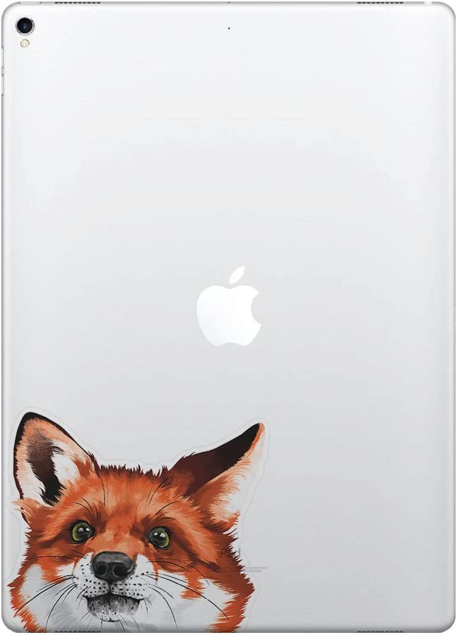 FINCIBO 5 x 5 inch Red Fox Removable Vinyl Decal Stickers for iPad MacBook Laptop (Or Any Flat Surface)