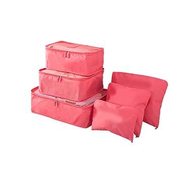 Lorjoy 6pcs / Set Impermeable Mujeres Ropa Interior Bras Almacenamiento de la Bolsa de Viaje de