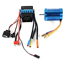 XCSOURCE 3650-4370KV 4P Slot Sensorless Brushless Motor with 45A ESC Electric Speed Controller for 1/10 RC Off-road Car RC505