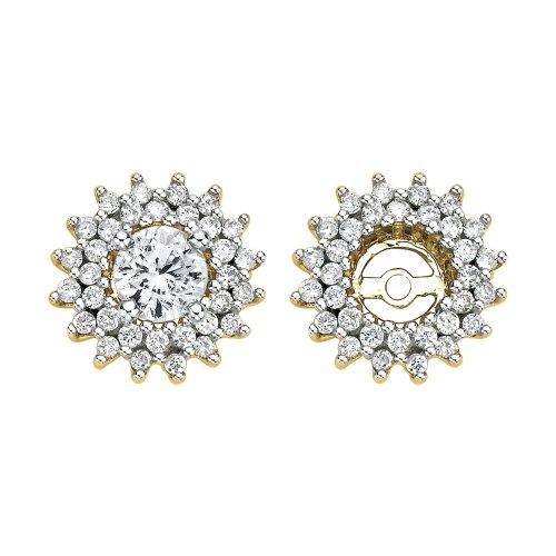 1/2 Ct Diamond Flower Earrings - 5
