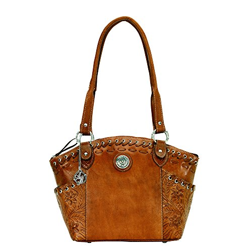 American West Harvest Moon Collection Zip-Top Bucket - Collection American Leather