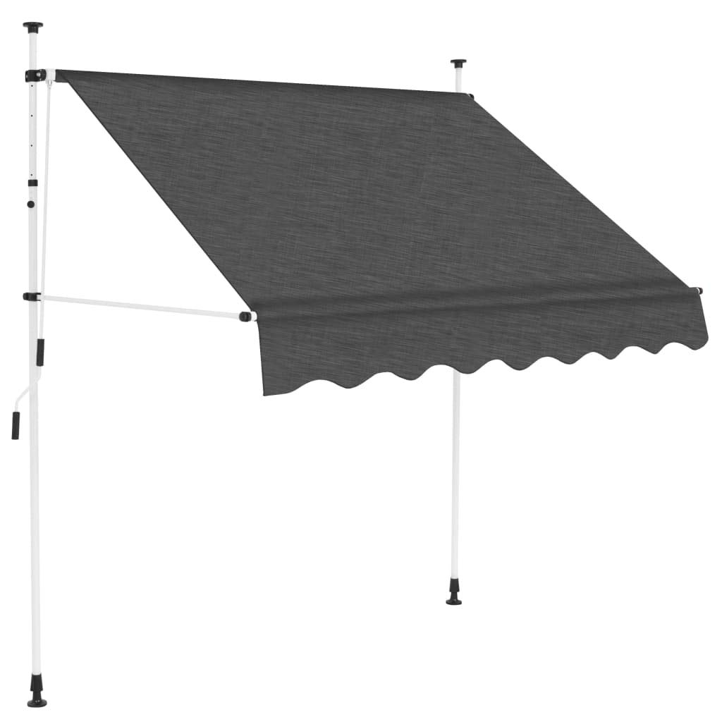 vidaXL Manual Retractable Awning 78.7'' Anthracite by vidaXL