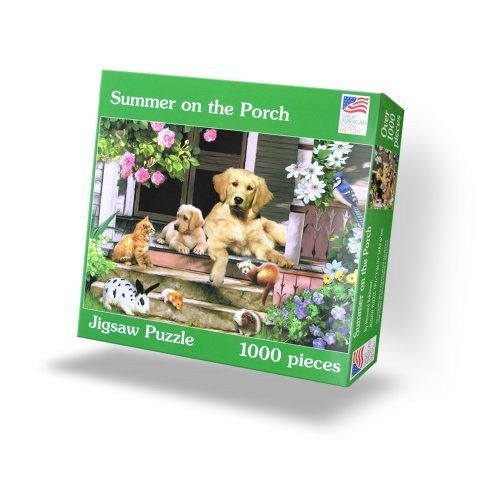 Summer on the Porch 1000 Piece Puzzle by Great American Puzzle Factory