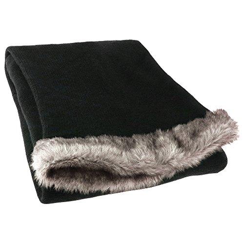 Capelli New York Fine Horizontal Wrap Knit Poncho With Cowl Turtleneck Black One Size