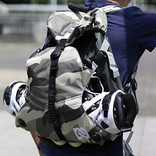 DENUONISS Professional Inline Skates Travel Backpack (#16 Msize fit Below 40/7)