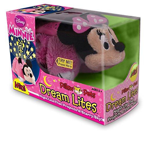 Disney Pillow Pets Dream Lites - Minnie Mouse Stuffed Animal Plush Toy (Mini 4