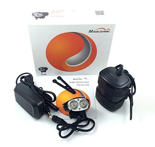 Latest MagicShine MJ880 L2 Version CREE XM-L2 LED Bicycle Light, 2000 Lumen, 6.6Ah Battery + Helmet Mount kit BSS