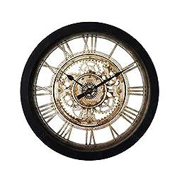 Beauty Brand Wall Clock Retro Industrial Style 24-inch Large Decorative Clock Living Room Bedroom Gear Quartz Clock