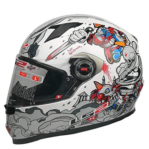 Qianliuk Man Women Full Face Motorcycle Helmet Original New Colorracing...