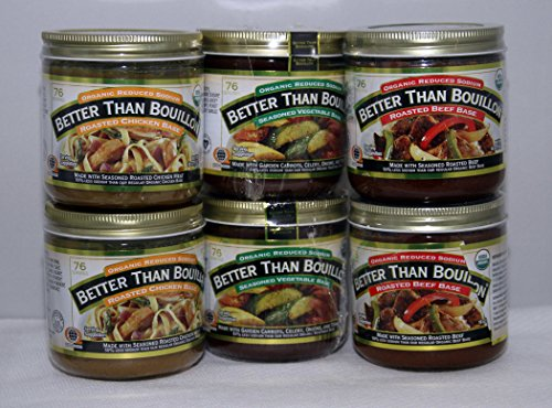 Better Than Bouillon Organic Reduced Sodium Mix six pack -
