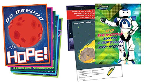 Vacation Bible School (VBS) 2019 To Mars and Beyond Decorating Poster Pak: Explore Where God's Power Can Take You! -