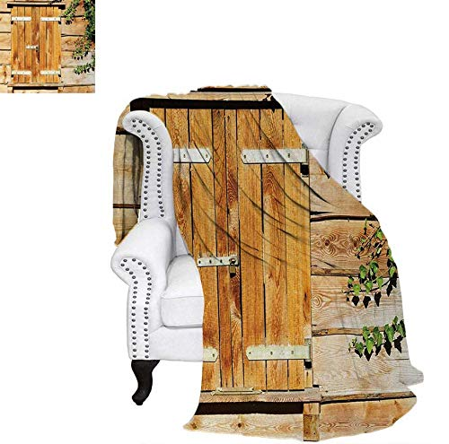 Shutter Wrap (Lightweight Blanket Facade of an Old Building Wooden Shutters Traditional House Summer Plants Nature Digital Printing Blanket 70