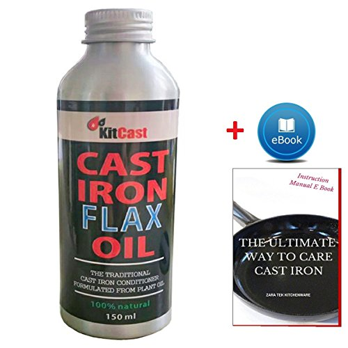 KitCast Cast Iron Conditioner 100% Natural From Flax Seed Oil for this list of coolest camp Dutch oven accessories