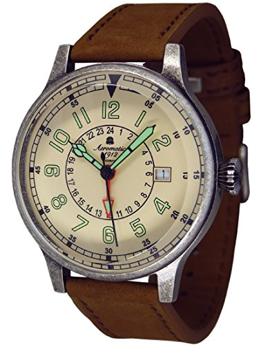 Aeromatic 1912 MILITARY watch - Swiss movement - GMT hand A1429 (Watch Swiss Movement)