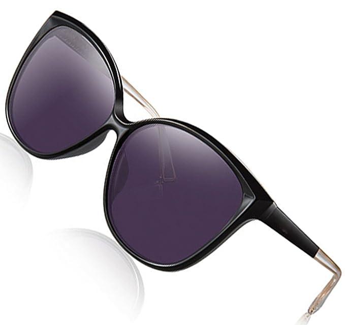 60a0dad35c ATTCL Women s Polarized Oversized Vintage Cat Eye Sunglasses 5012-Black