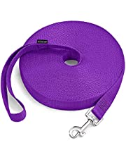 Petescort Dog/Puppy/Cat 15 ft, 20 ft, 30 ft, 50 ft Long Leash for Dog Cat Training, Play, Camping for Small, Medium Dogs or Cats