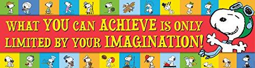 "Eureka Peanuts Classroom Banner, Achieve,12 x 45"""
