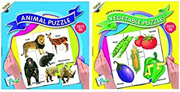 Ratnas Animal and Vegetable Puzzle (88 Pieces)