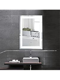 28 X 36 In Vertical LED Bathroom Silvered Mirror With Touch Button C CK160