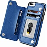 iPhone 7 Plus case,iPhone 8 Plus Wallet Case with Card Holder Kickstand Card Slots Shockproof Cover for iPhone 7 Plus/8…