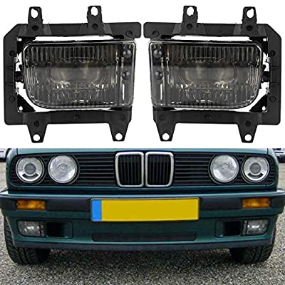 Gorgeri Driving Fog Lights, 1 Pair of 12V Left + Right Car Clear Driving E30 Fog Lights for 85-93 Cars: Automotive