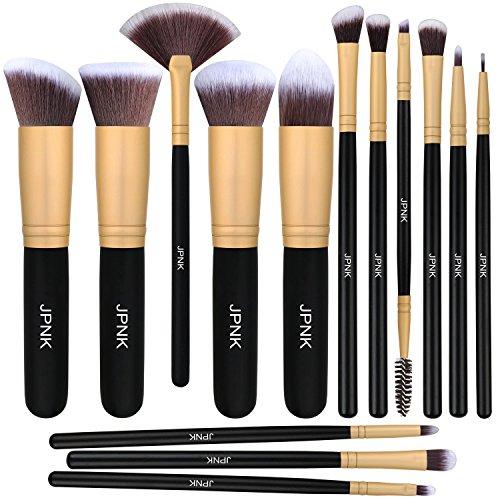 (JPNK Synthetic Makeup Brush Set Cosmetics Foundation Blending Blush Eyeliner Face Powder Brush Makeup Brush Kit)