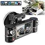 LtrottedJ New Dual Lens Car Camera Vehicle DVR Dash Cam Two Lens...