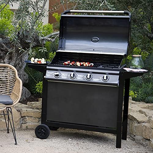 Cook'in Garden - Barbecue au gaz RENO - 4 brûleurs avec thermomètre 14kW