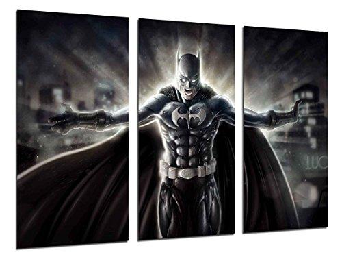 Cuadros Camara Multi Wood Printings Art Print Box Framed Picture Wall Hanging - (Total Size: 38 x 24.4 in), Superheroes Batman, Joker - Framed and Ready to Hang - ref. 26390
