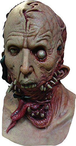 Alien Host Gory Zombie Latex Adult Halloween Costume Mask (Alien Host Adult Mask)
