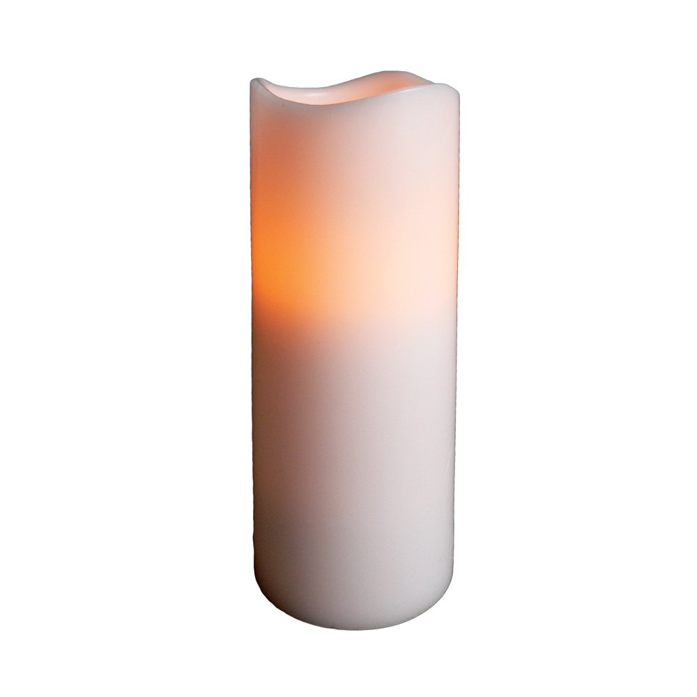 Fortune Products CL-437-WPRC Remote-Controlled Real Wax Pillar Candle, 2-3/4'' Width x 7'' Height (Case of 12)