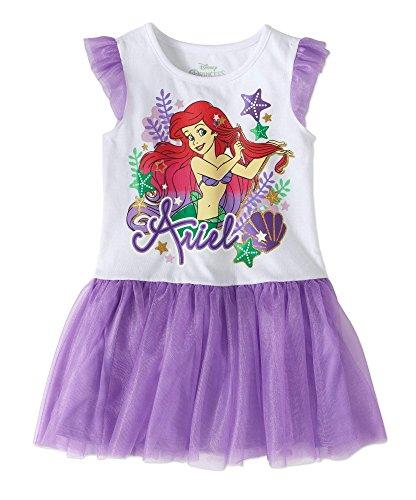 Disney Junior The Little Mermaid Ariel Dress for Toddler Girl (Tutu Dress, (Little Mermaid Purple Dress)