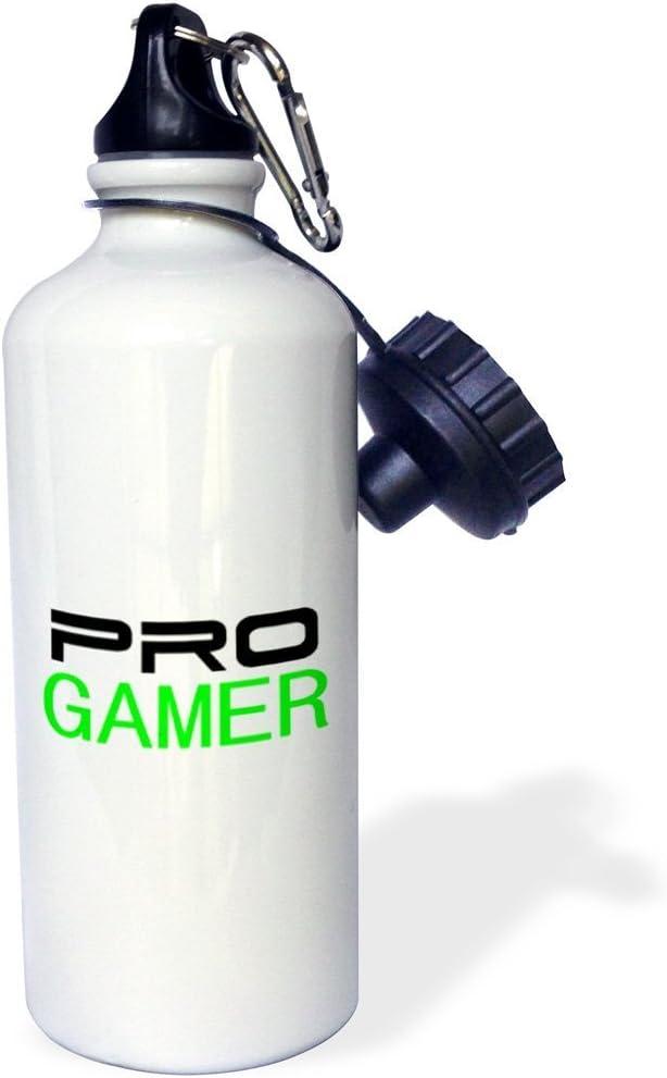 Fun guyeFiy-pro gamer gaming trabajo o hobby botella deporte botella de agua de aluminio 400 ml 600 ml blanco