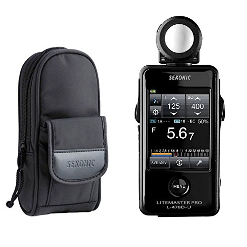 Sekonic LiteMaster Pro L-478D-U Light Meter With Exclusive 3-Year Warranty + Sekonic Deluxe Case for L-478-series -