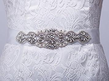 Mariée queendream Ceinture délicat strass perles écharpe écharpe  Bachelorette Party Couleur personnalisée Châssis – Accessoire – eabe8e3a7e5