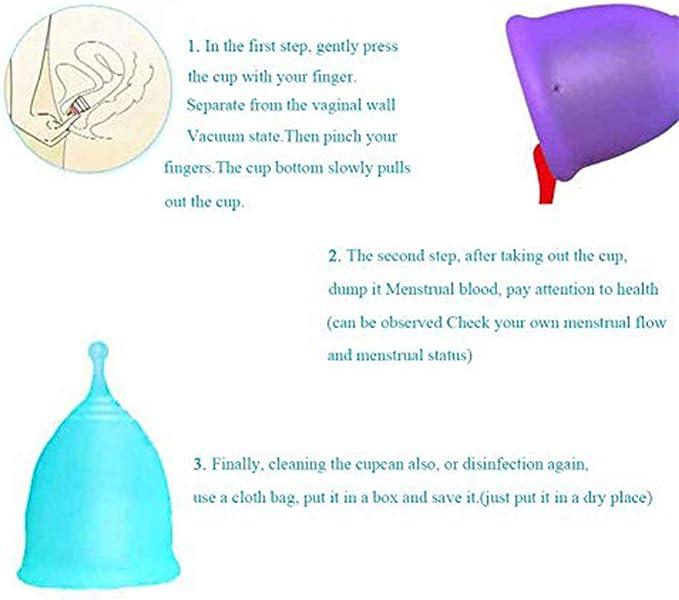 Copa Menstrual, Silicona médica Gran capacidad Menstrual Cup ...