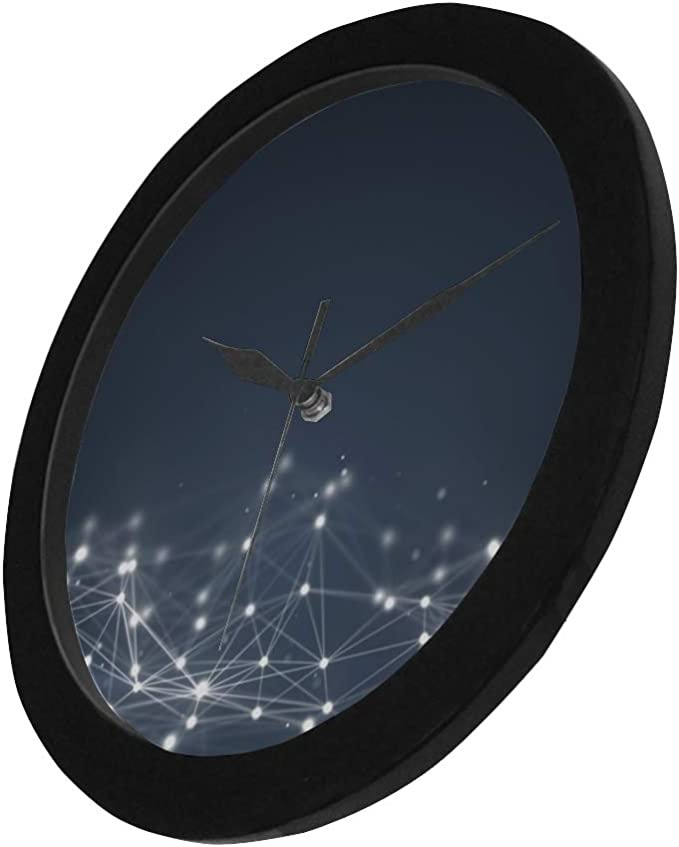 Amazon Com Thkdsc Modern Simple Futuristic Shape Computer Generated Abstract Wall Clock Indoor Non Ticking Silent Quartz Quiet Sweep Movement Wall Clcok For Office Bathroom Livingroom Decorative 9 65 Inch Home Kitchen