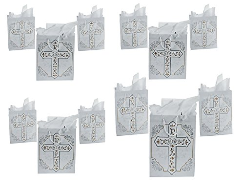 Package of Religious Cross Gift Bags -12 pack for $<!--$18.99-->