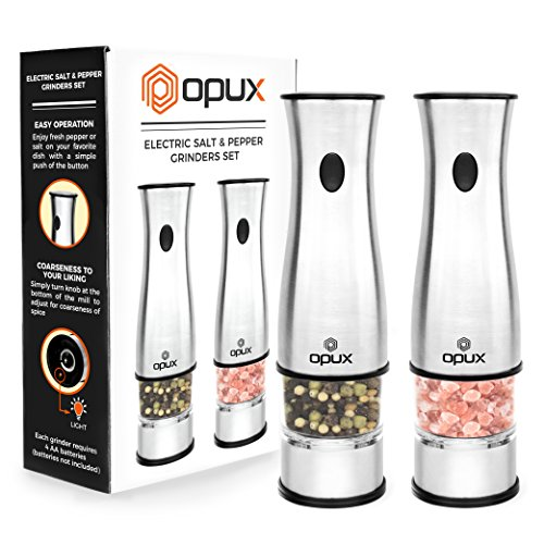 Amazoncom Opux Premium Deluxe Electric Salt And Pepper Grinder Set
