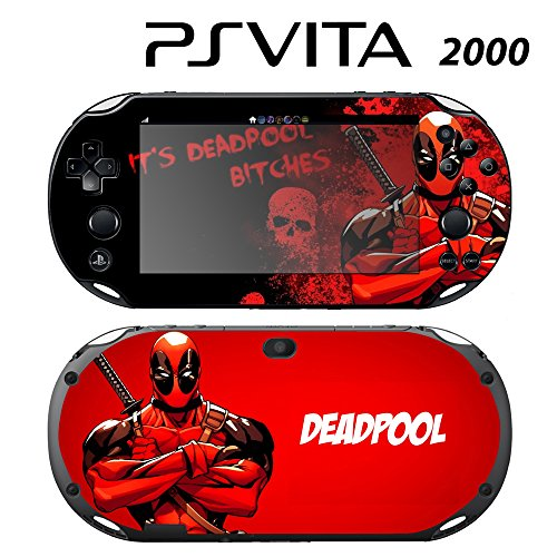 Decorative Video Game Skin Decal Cover Sticker for Sony PlayStation PS Vita Slim (PCH-2000) - Deadpool ()
