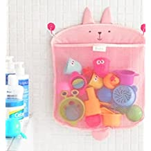 Kids Baby Bath Toy Organizer Storage Shower Caddy With Strong Suction Cups, Toddler Bathtub Storage Toy Holder