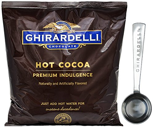 Ghirardelli Chocolate - Hot Cocoa Premium Indulgence 2 lbs pouch - with Exclusive Measuring Spoon