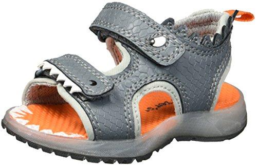 Carter's Boys' Funny Sandal, Grey, 4 M US Toddler