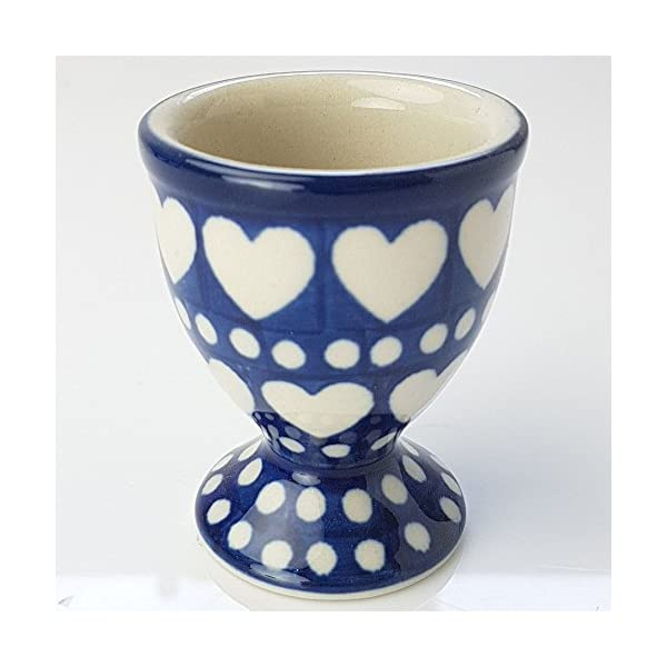 Polish Pottery Egg Cup – Heart to Heart