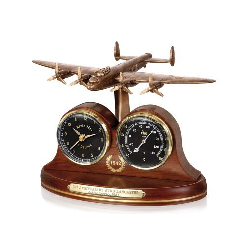 Lancaster Bomber 70th Anniversary Desk Clock