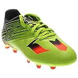 adidas Performance Messi 15.3 J Soccer Cleat (Little Kid/Big Kid), Semi Solar Slime/Solar Red/Black, 4 M US Big Kid