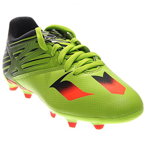 adidas Performance Messi 15.3 J Soccer Cleat (Little Kid/Big Kid), Semi Solar Slime/Solar Red/Black, 5.5 M US Big Kid