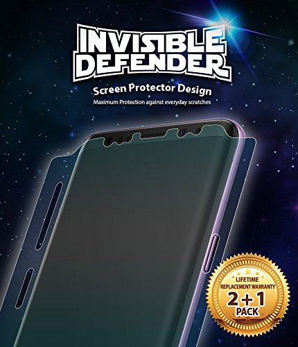 Galaxy S9 Phone Screen Protector Ringke Invisible Defender [Full Coverage][3-Pack] Edge to Edge Side Coverage [Case Compatible] Scratch Resistant Thin HD Clearness Film for Samsung Galaxy S9