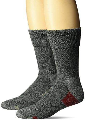 Dr. Scholl's Big and Tall Advanced Relief Blisterguard Casual Crew Socks-2 Pair Pack, Charcoal, Red, Gray, Men's Shoe Size: (Blister Guard Socks)