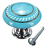 KINGSO Retro Style Round Ceramic Door Knob Cabinet Drawer Cupboard